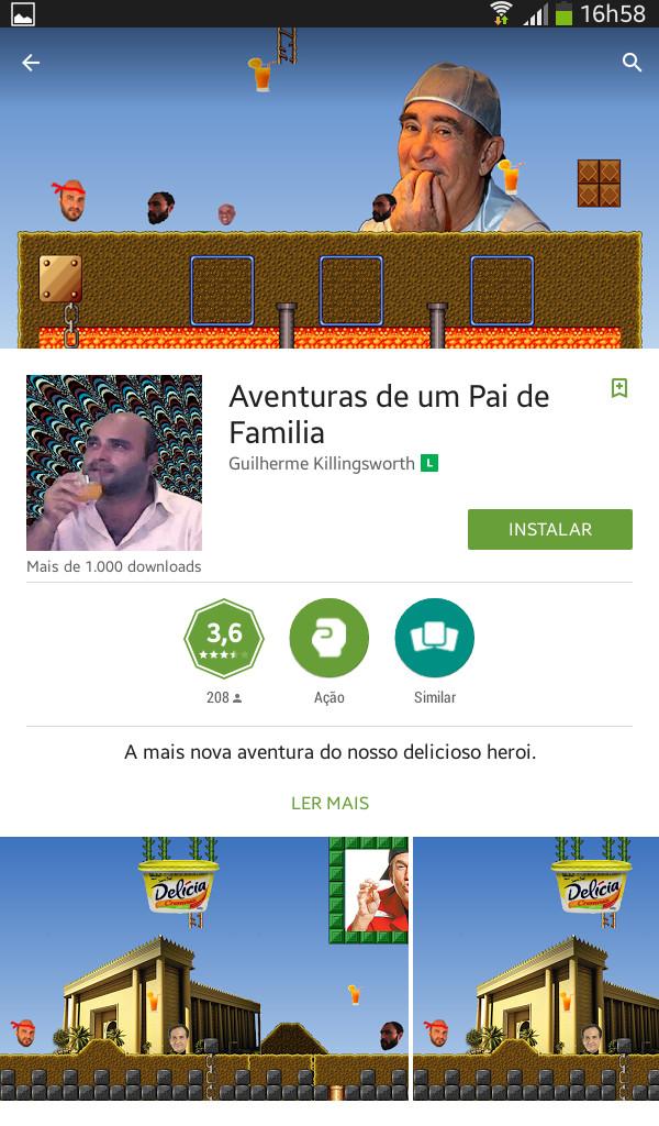 Pai de familia e suas a aventuras - meme