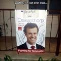 Election poster graffiti