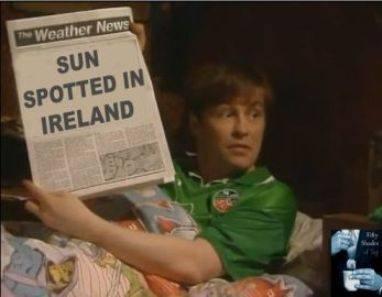 Sun in Ireland? - meme