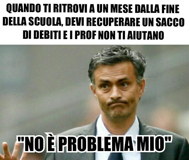 Mourinho sostiene i prof - meme