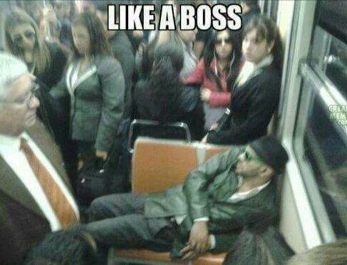 Like a boss: metro edition - meme