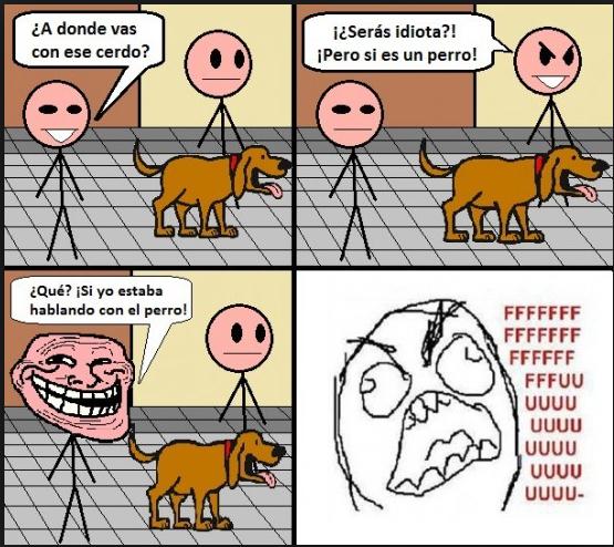 Hablando con el perro - meme