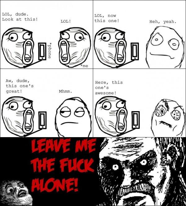 Leaf me alone - meme