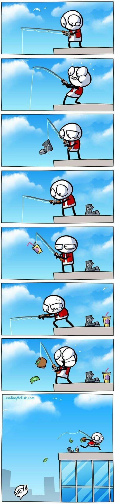 Pêche au portefeuille - meme
