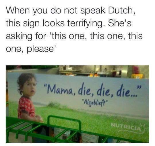 Terrifying sign - meme