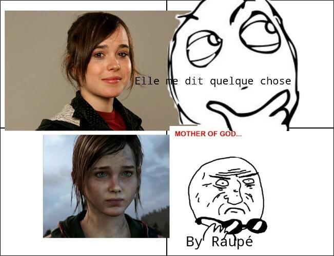 Ellen Page et Ellie se ressemblent!  L'avez vous déjà remarqué? (Ellie vient de The last of us) - meme