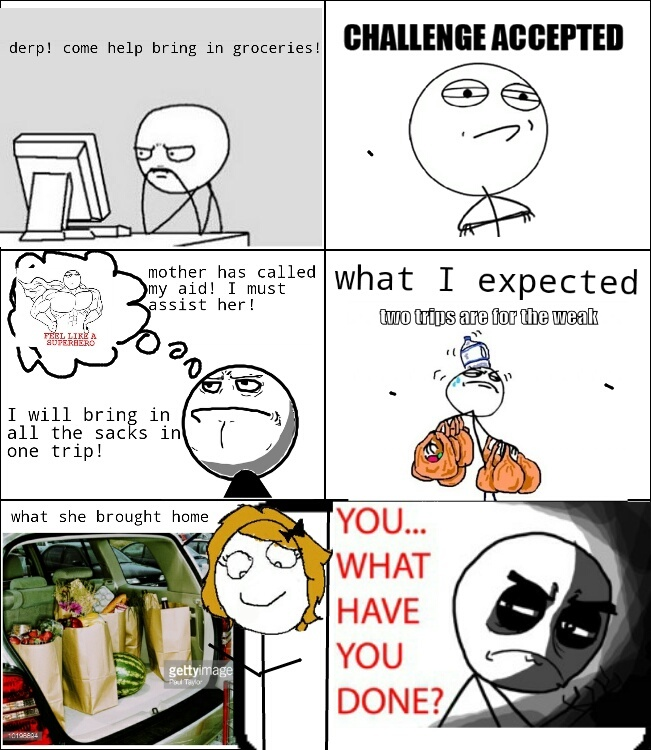 Paper bags... - meme