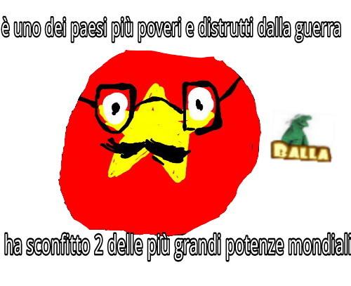 spero vi piaccia,ringrazio jacolamborghini per il vietnamball baffuto - meme