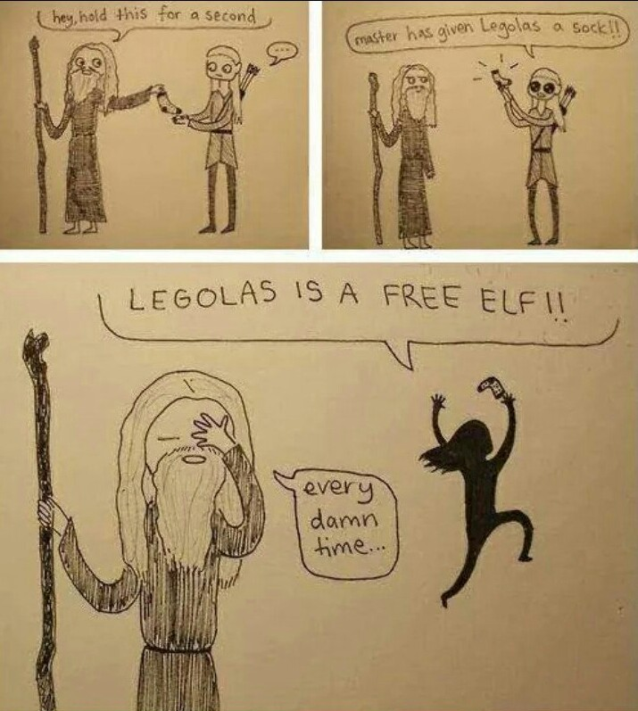 Get it together Legolas - meme
