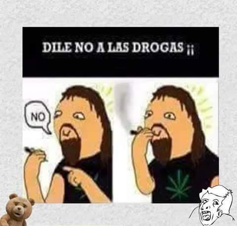No a las drogas - meme