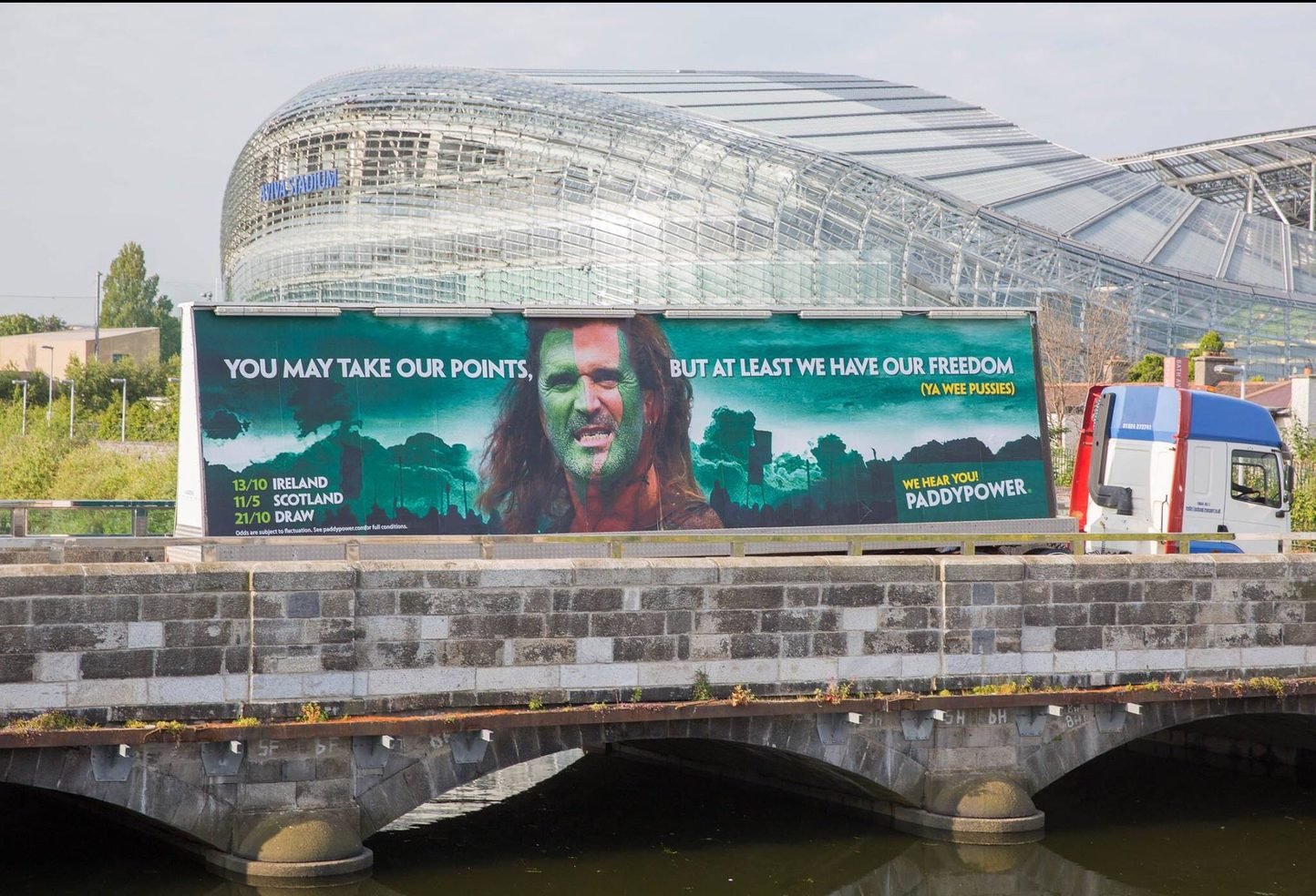 Ireland v Scotland seen this driving around! - meme