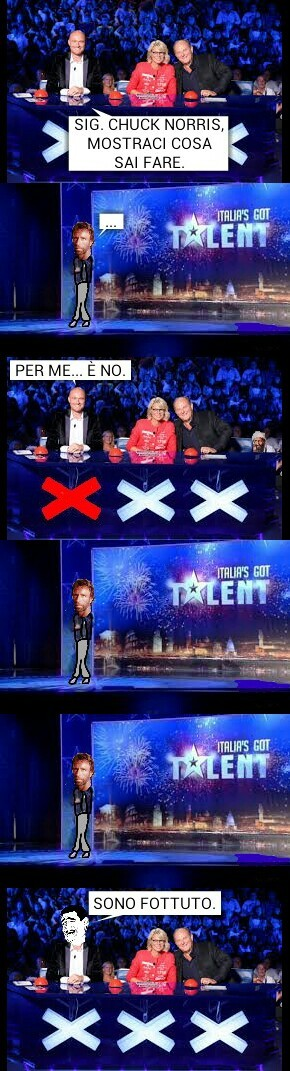 Chuck Norris a Italia's got talent... - meme