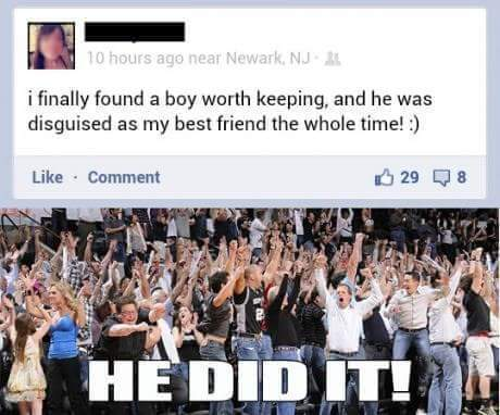 Finally someone out of friend zone - meme
