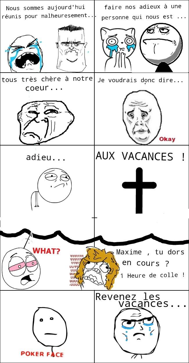 Adieu...les vacances - meme