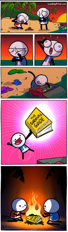 La mejor utilidad para una guia de supervivencia XD - meme