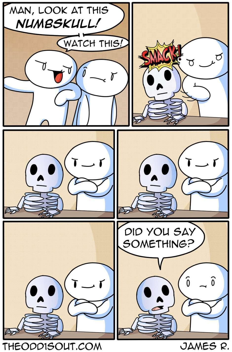 he's a thick skull - meme