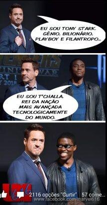 Como humilhar o Tony Stark huehuehueh - meme