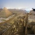 Une photo très rare vu du sommet d'une pyramide