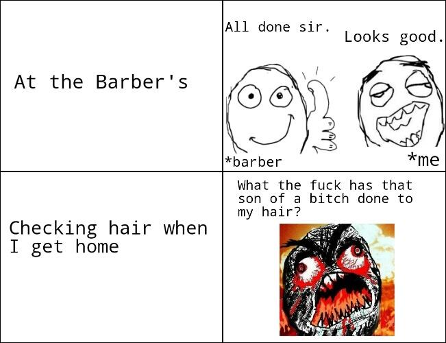 I'm having a bad hair day - meme