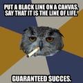art students, succes.