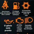 Significado dos símbolos no carro