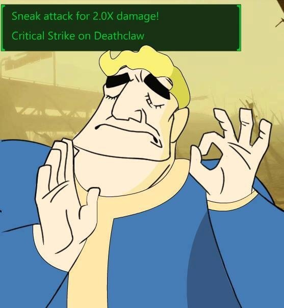 When you hit the critical just right - meme