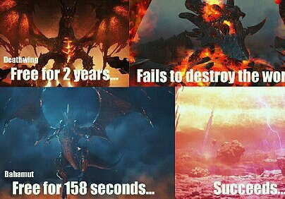 Bahamut doesn't screw around - meme