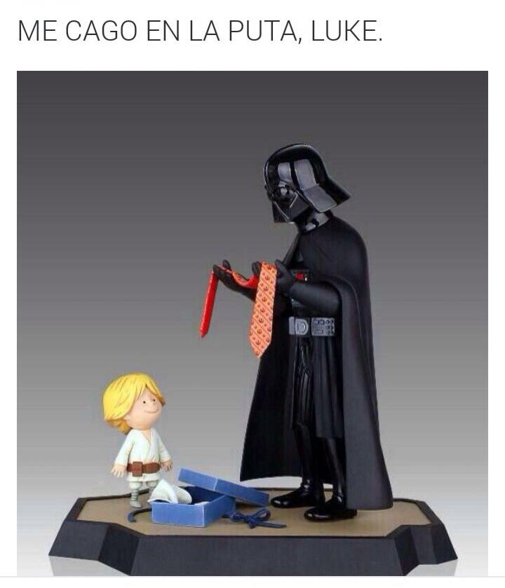 El padre Jedi - meme