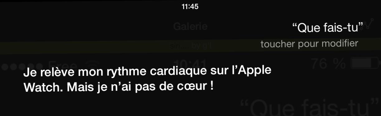 Siri n'a pas de cœur.
