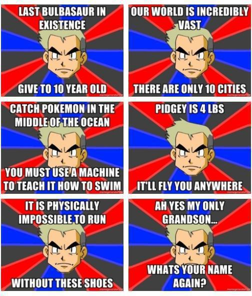 Professor  oak - meme