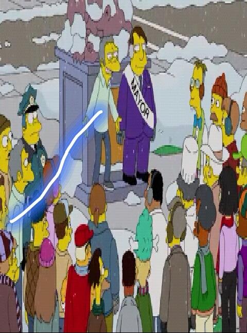 Moe a un clone ! Mais depuis quand? Oui y'a un épisode sur ça mais là c'est saison 25 épisode 8 ;-) - meme
