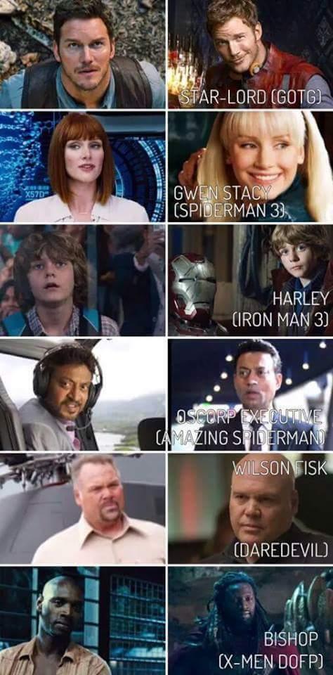 Tous réunis dans un même film - meme