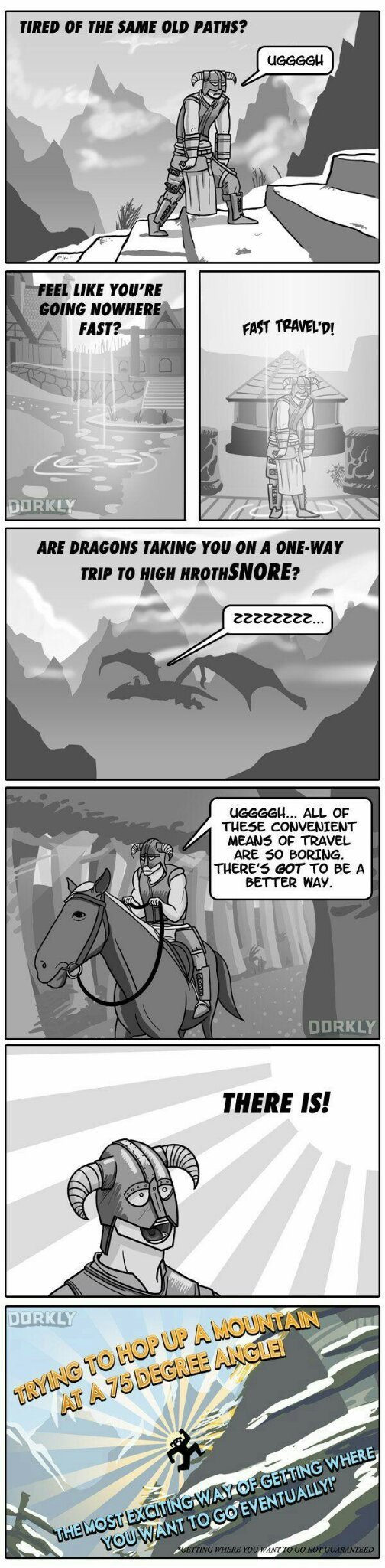 Like there's any other way to travel in Skyrim?! - meme