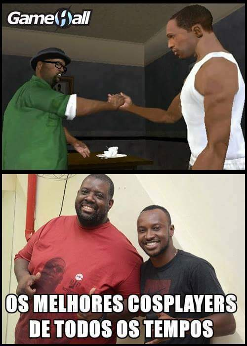 CJ e Big Smokey kkkkk - meme