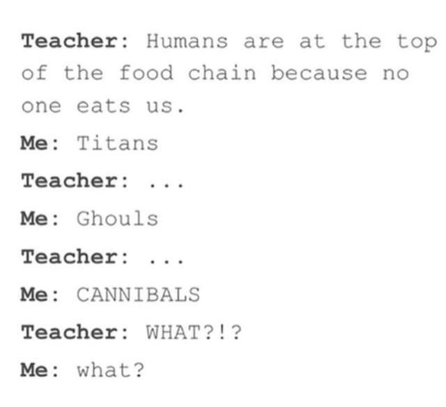 Titans, ghouls, canibals,... - meme