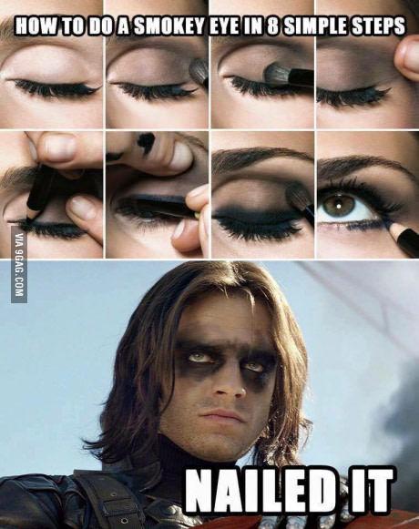 Bucky make-up - meme