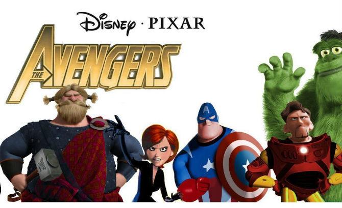 Avengers pixar - meme