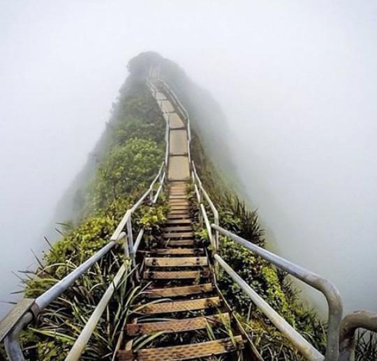 Stairways to heaven at Hawaii... - meme