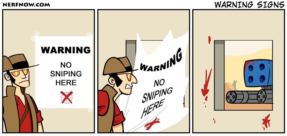 No Sniping - meme