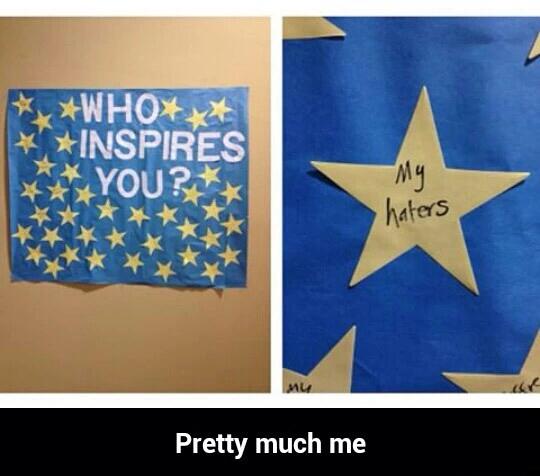 Who inspires you? - meme