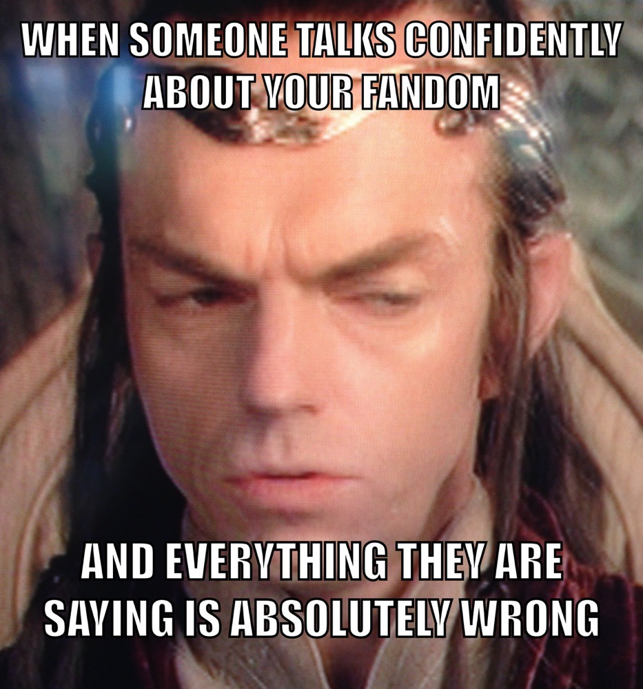 Lord Elrond didn't reforge Narsil into Anduril to listen to the bullshit you're spouting. - meme