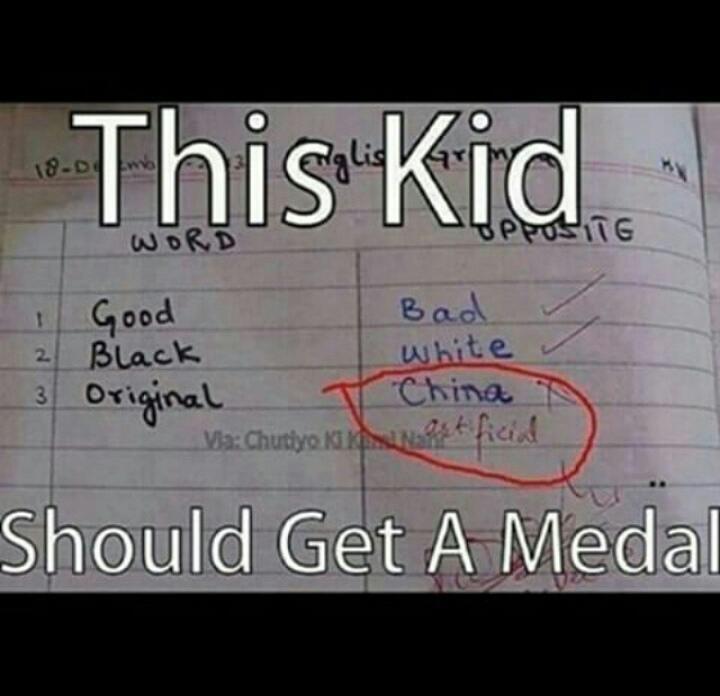 das Kind sollte eine medallie bekommen - meme