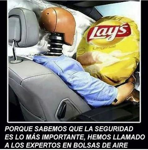 Airbags marca Lays - meme