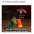 comforting people while eating lawls