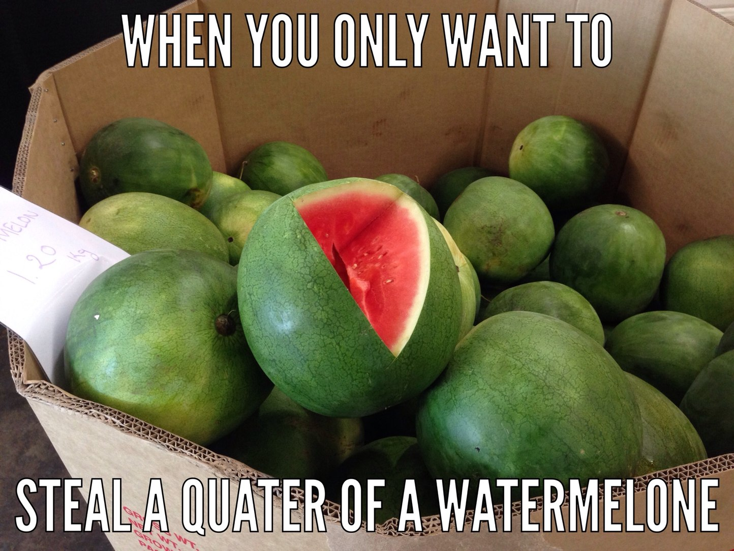 how to steal watermelon - meme