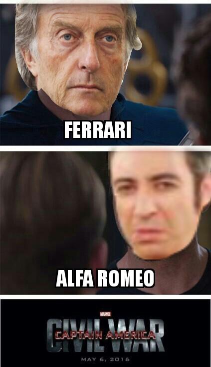 L Alfa Romeo è come.. l' Alfa Romeo - meme