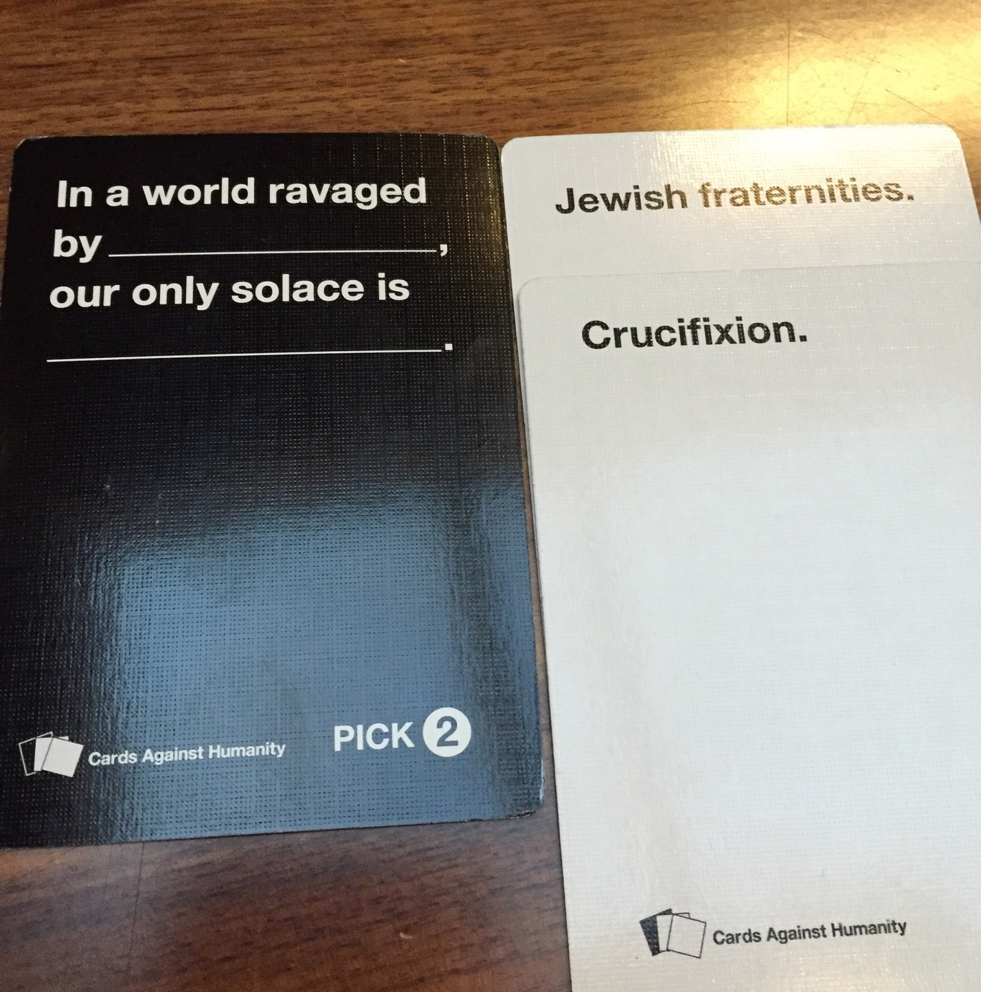 cards against humanities - meme
