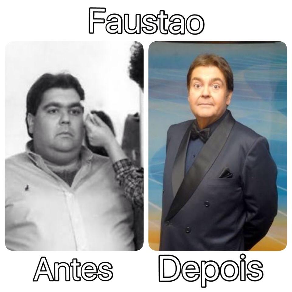 Famosos antes e depois #2 Faustao/Deixem suas sugestoes nos comentarios - meme