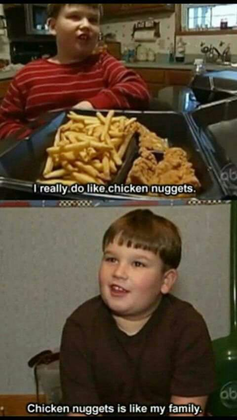 I love chicken nuggets 6th comment gets nuggets with me - meme