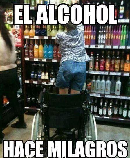 Alcohol milagroso xD - meme
